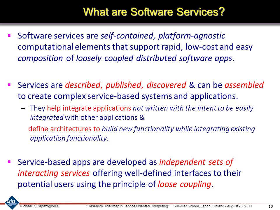 What are Software Services