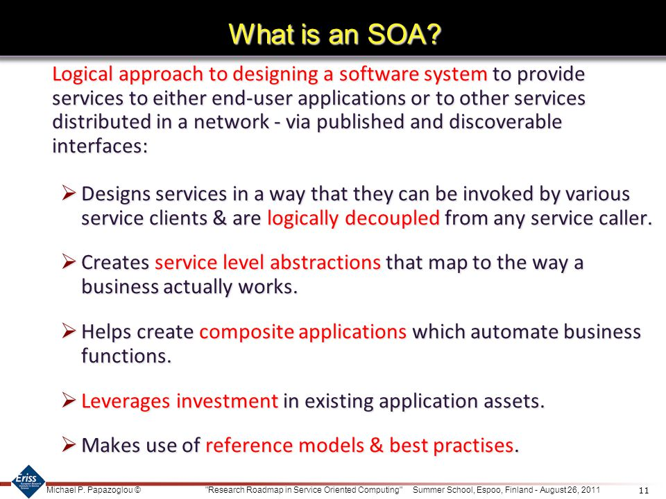 What is an SOA