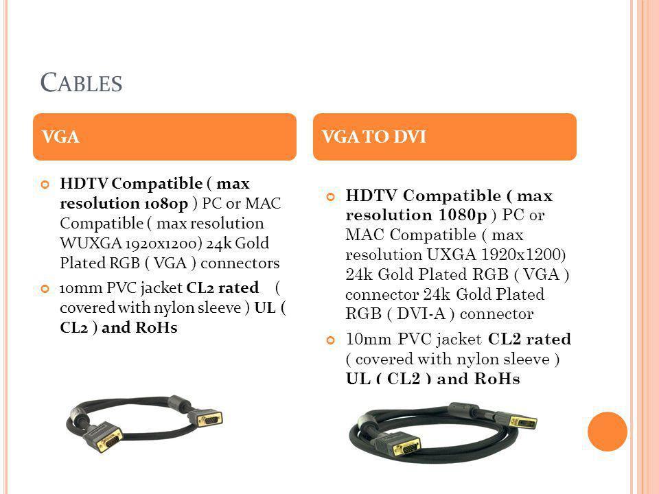 Cables VGA. VGA TO DVI.