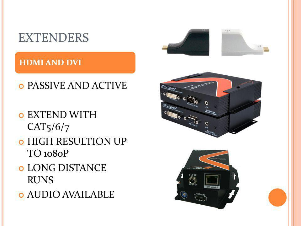EXTENDERS PASSIVE AND ACTIVE EXTEND WITH CAT5/6/7