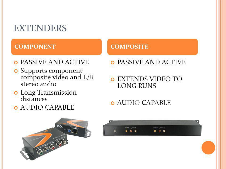 EXTENDERS PASSIVE AND ACTIVE