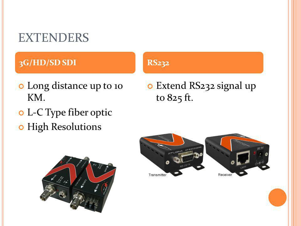 EXTENDERS Long distance up to 10 KM. L-C Type fiber optic