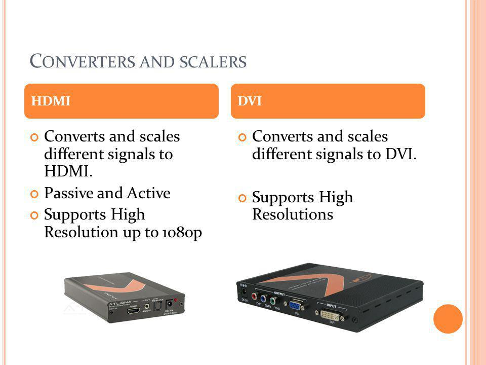 Converters and scalers