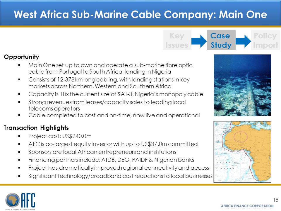 West Africa Sub-Marine Cable Company: Main One