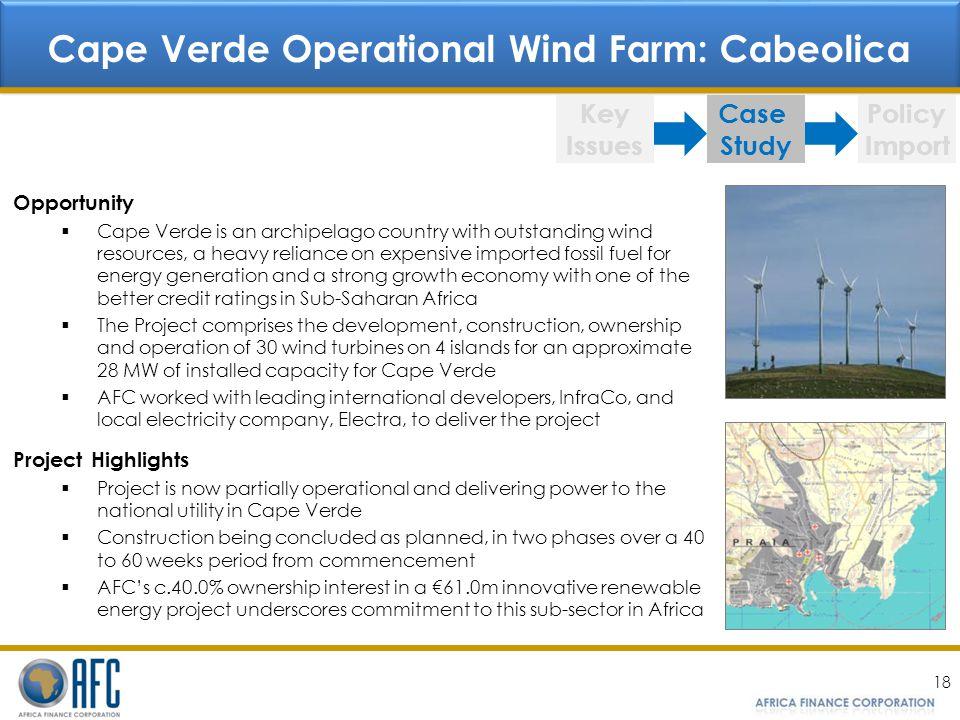 Cape Verde Operational Wind Farm: Cabeolica