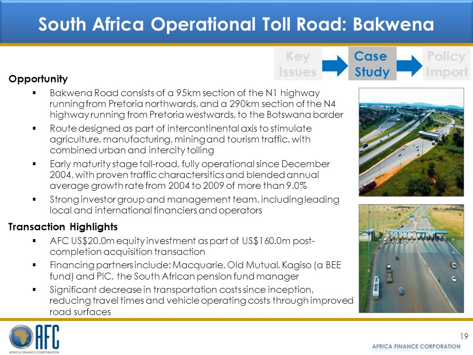 South Africa Operational Toll Road: Bakwena