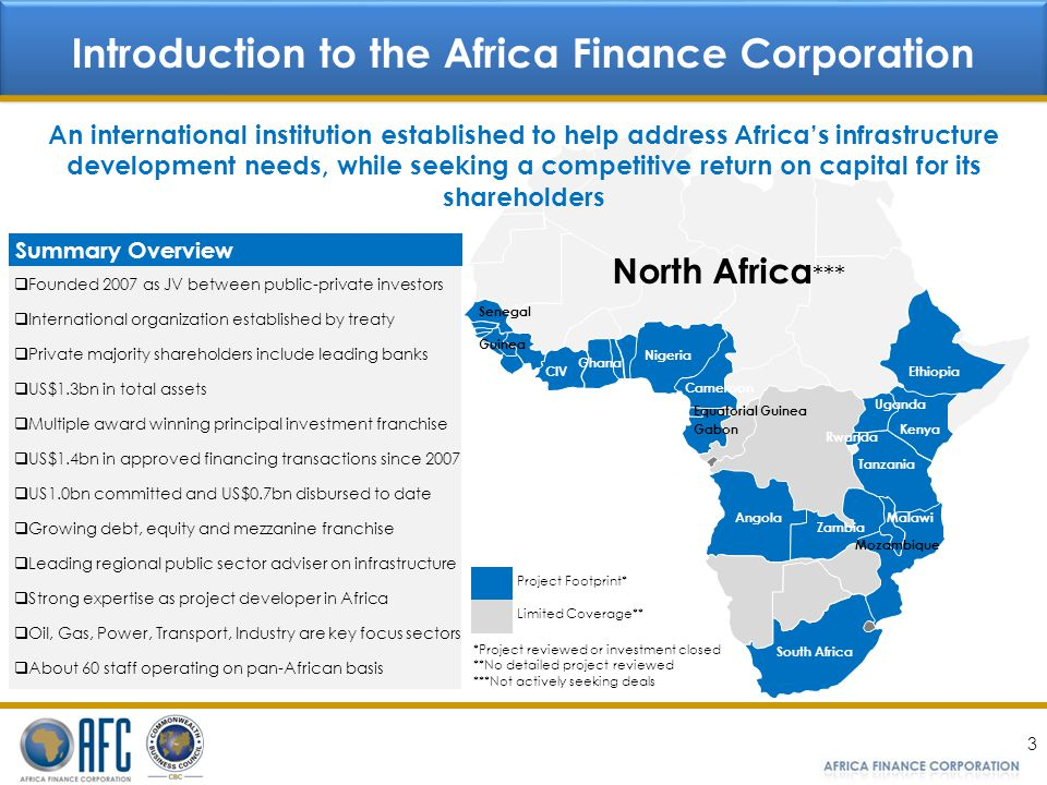 Introduction to the Africa Finance Corporation