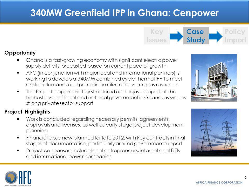 340MW Greenfield IPP in Ghana: Cenpower