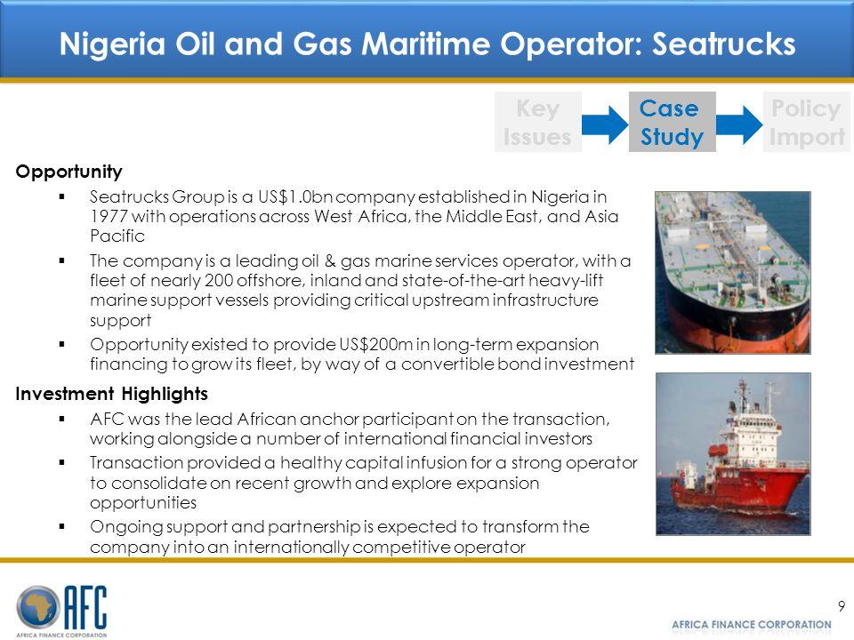 Nigeria Oil and Gas Maritime Operator: Seatrucks