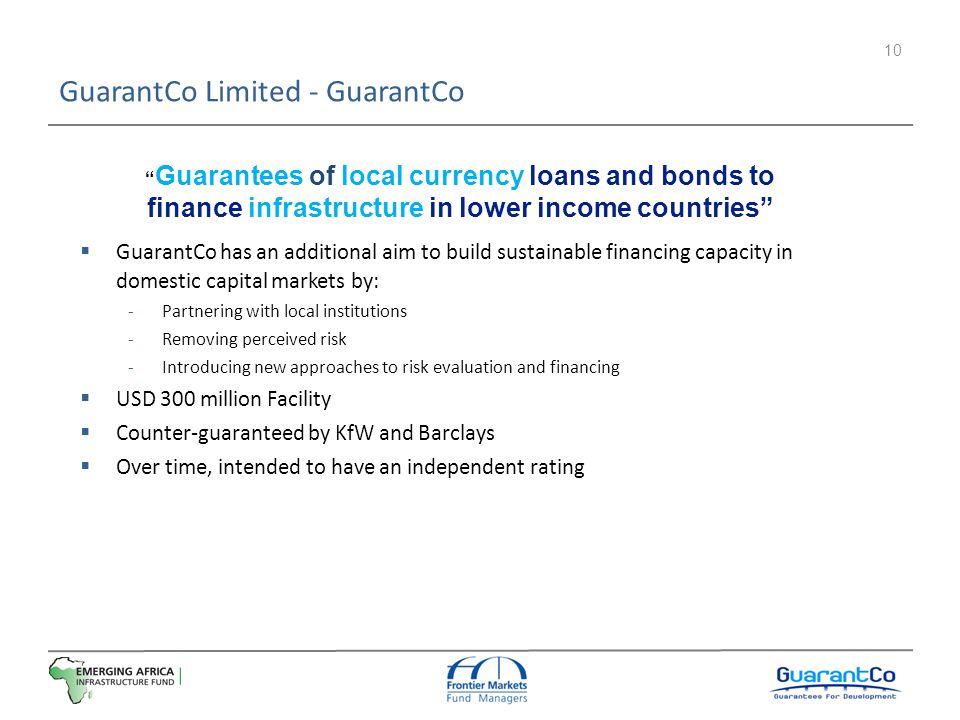 GuarantCo Limited - GuarantCo