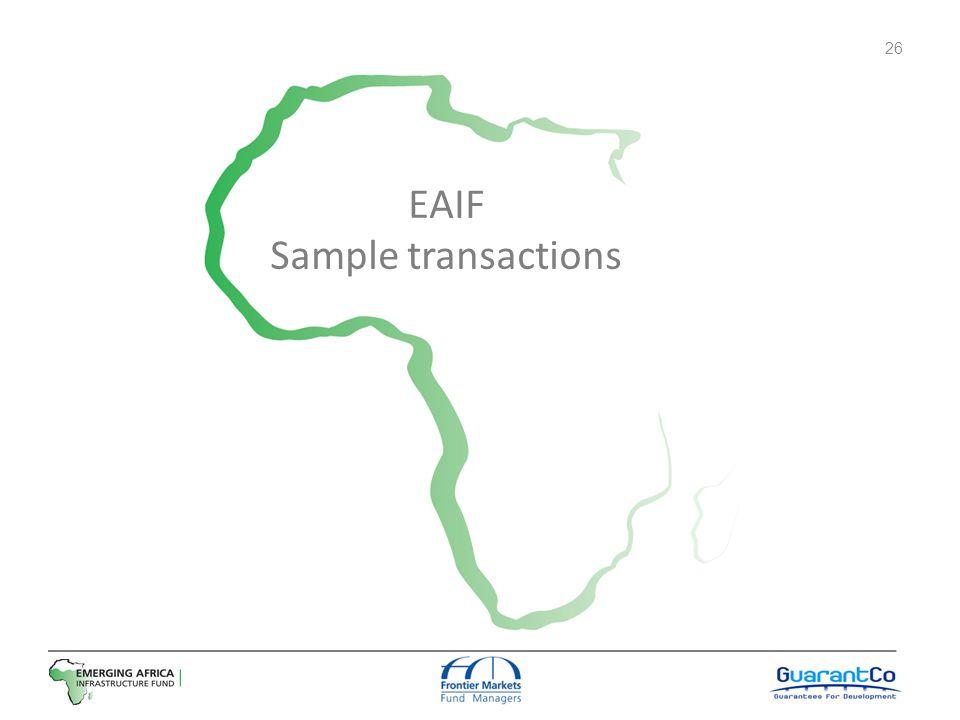 EAIF Sample transactions