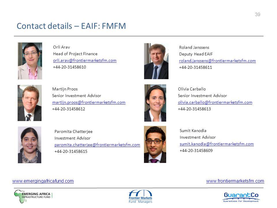 Contact details – EAIF: FMFM