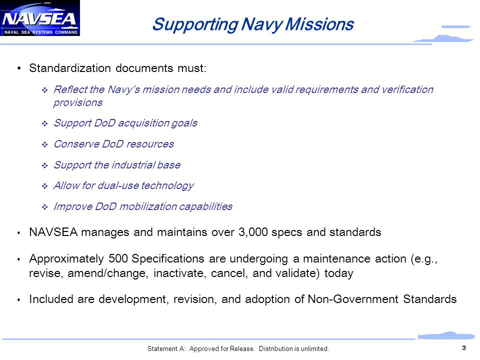 Supporting Navy Missions