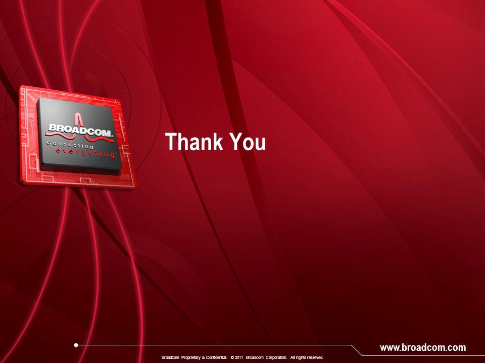 Appendix Broadcom Proprietary & Confidential. © 2011 Broadcom Corporation. All rights reserved.