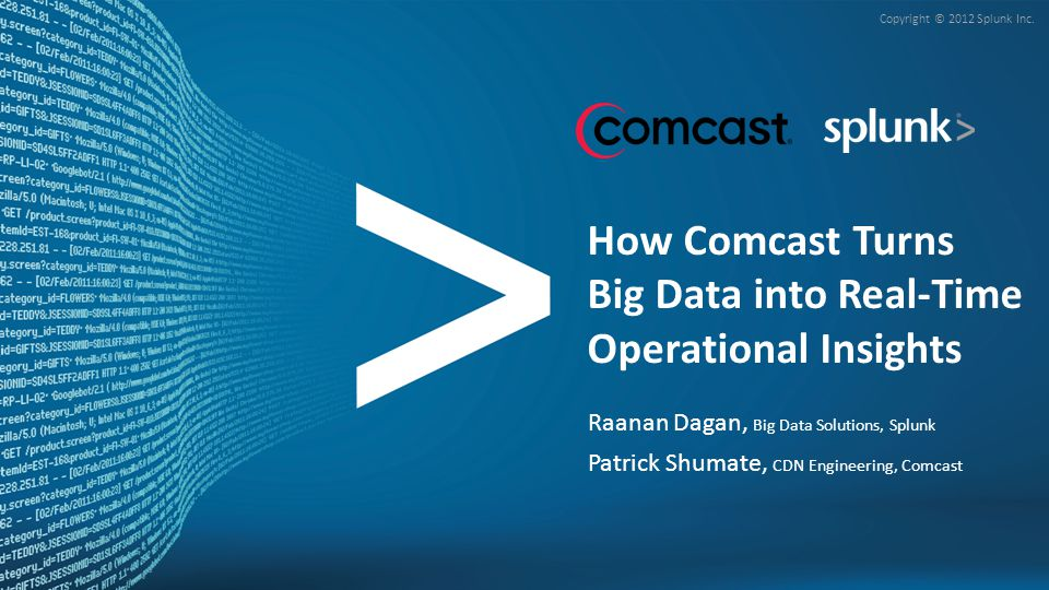 How Comcast Turns Big Data into Real-Time Operational Insights