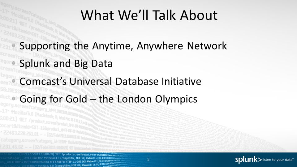 What We'll Talk About Supporting the Anytime, Anywhere Network
