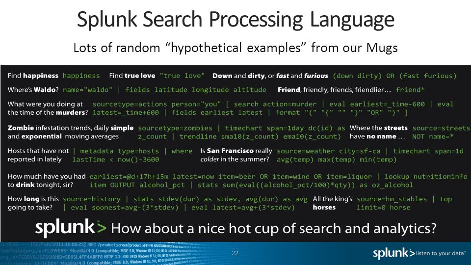 Splunk Search Processing Language