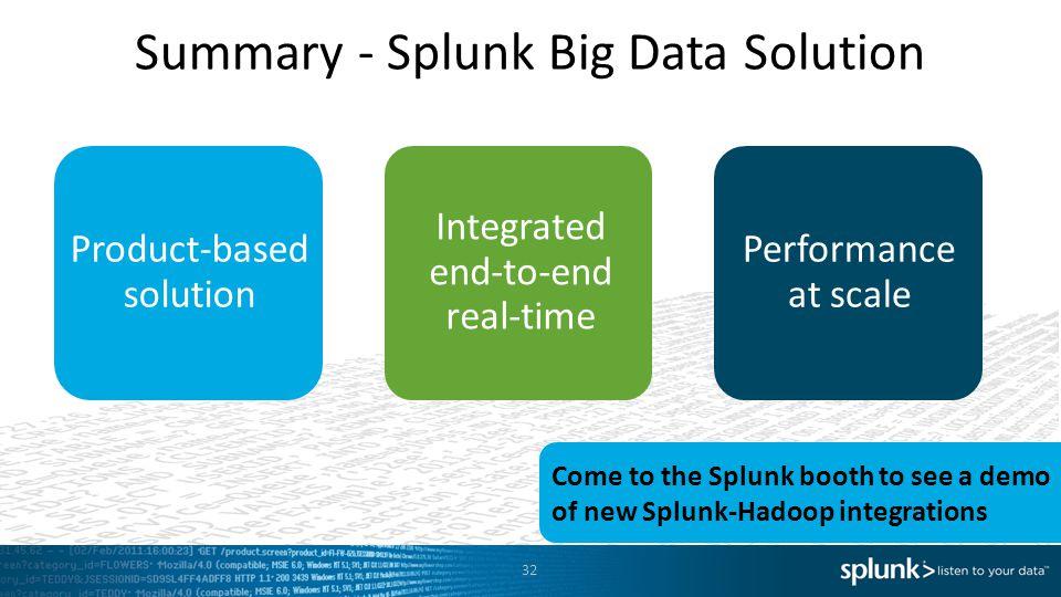 Summary - Splunk Big Data Solution