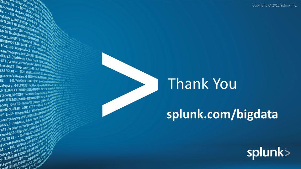 Thank You splunk.com/bigdata