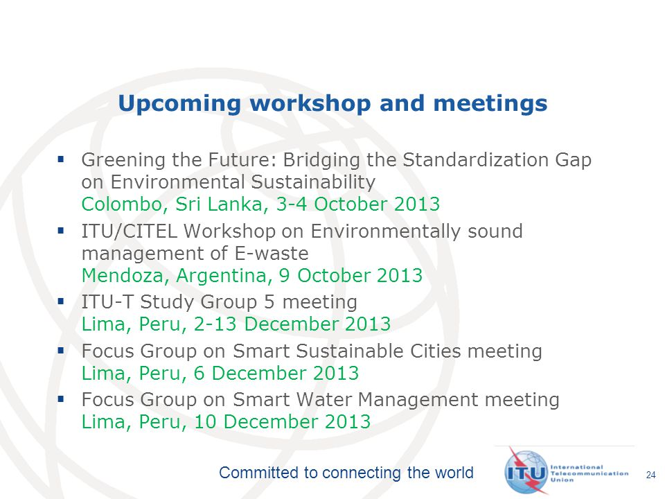 Upcoming workshop and meetings