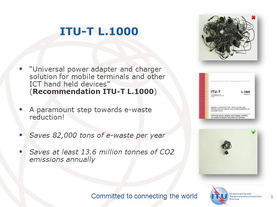 ITU-T L.1000 Universal power adapter and charger solution for mobile terminals and other ICT hand held devices (Recommendation ITU-T L.1000)