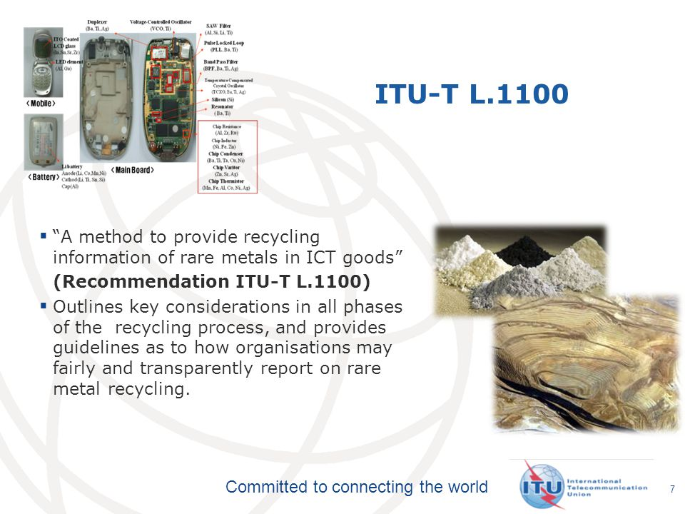 ITU-T L.1100 A method to provide recycling information of rare metals in ICT goods (Recommendation ITU-T L.1100)