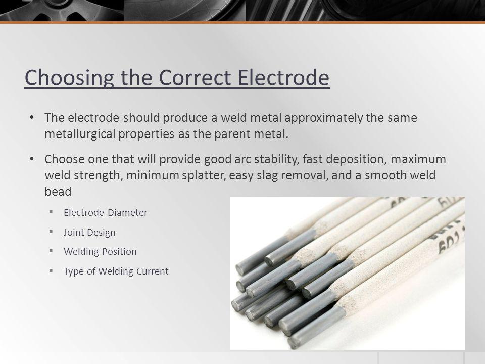 Choosing the Correct Electrode