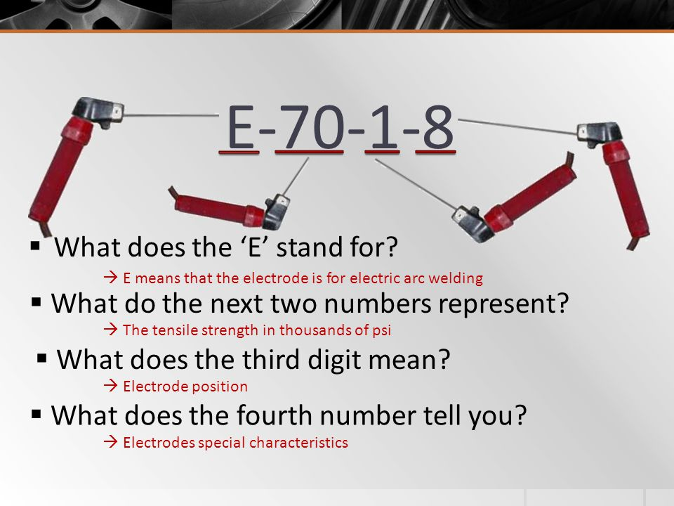 E-70-1-8 What does the 'E' stand for