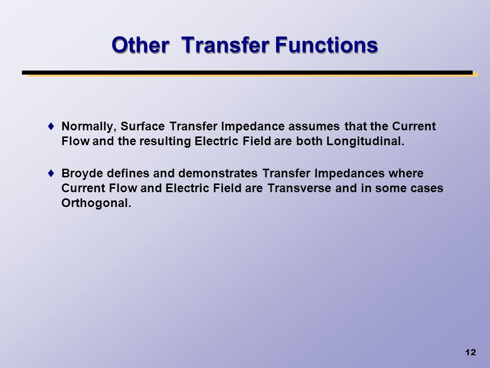 Other Transfer Functions