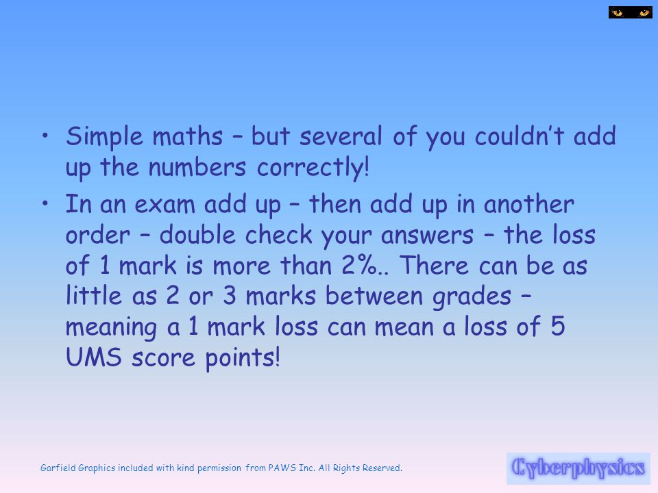 Simple maths – but several of you couldn't add up the numbers correctly!