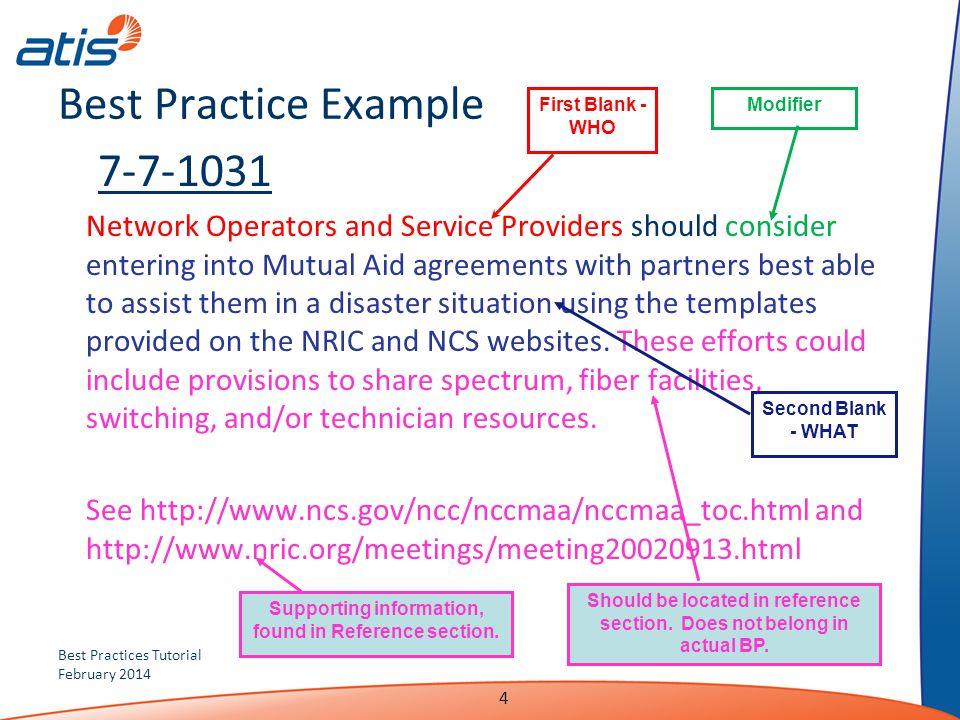 Best Practice Example 7-7-1031