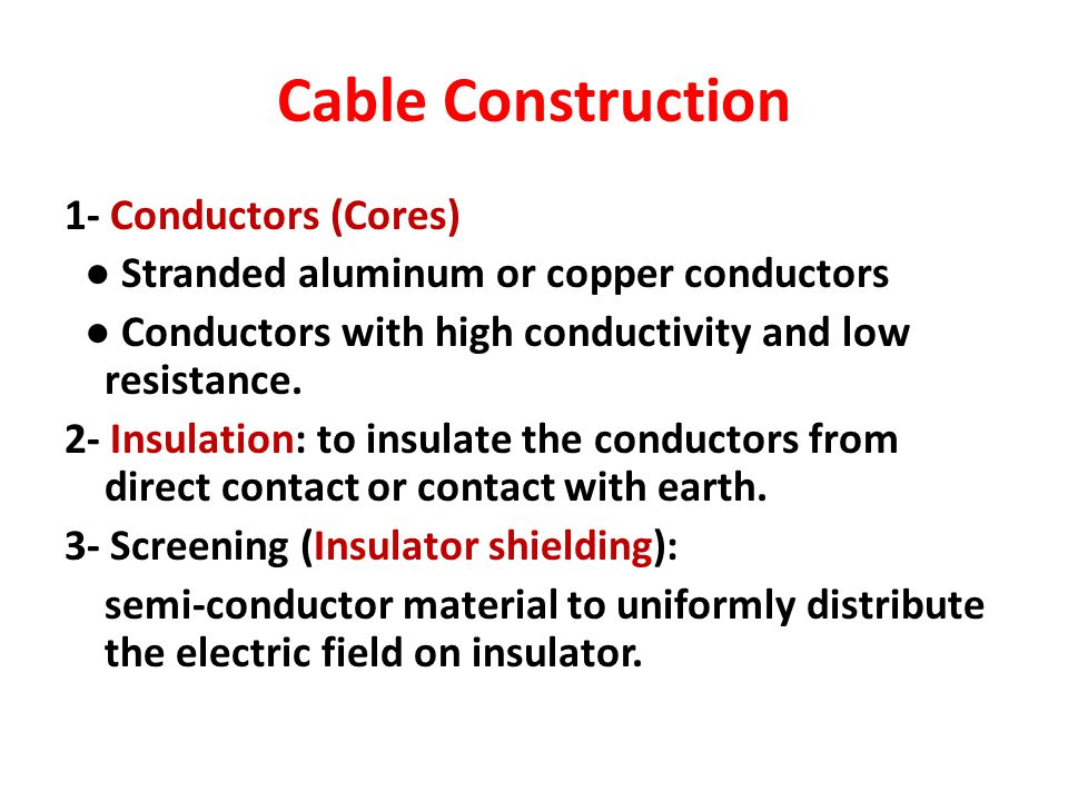 Cable Construction