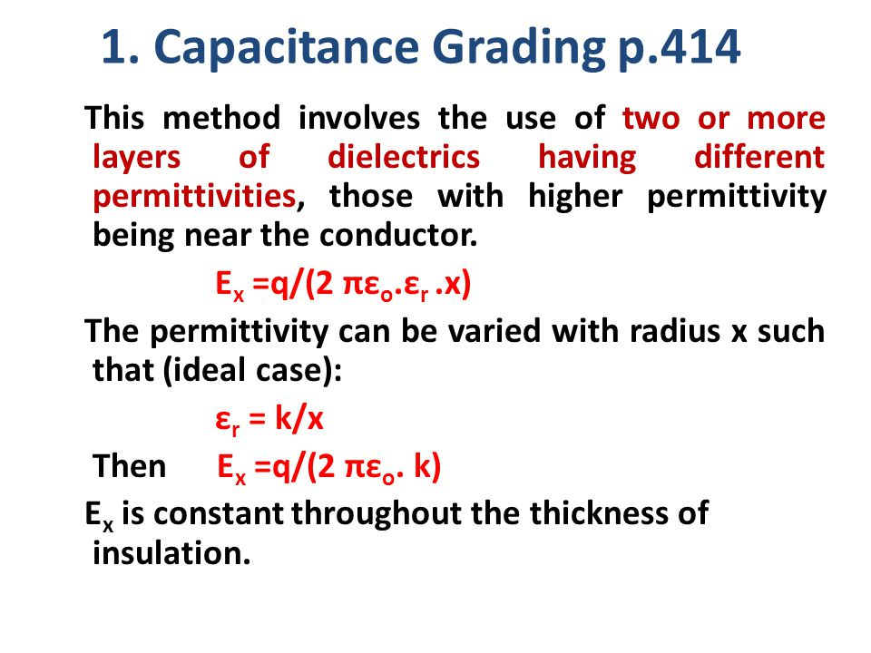 1. Capacitance Grading p.414