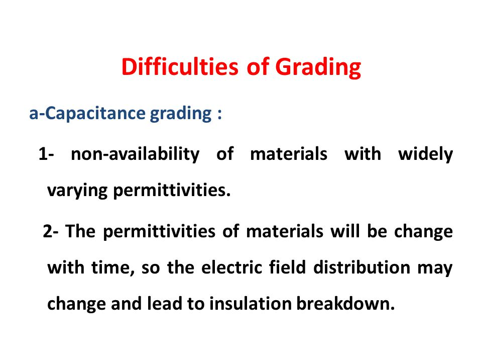 Difficulties of Grading