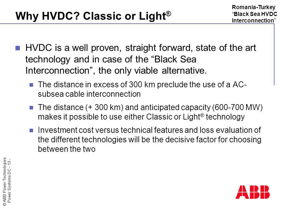 Why HVDC Classic or Light®