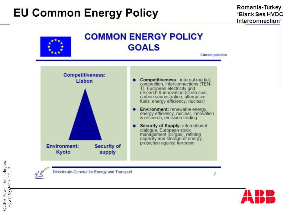 EU Common Energy Policy