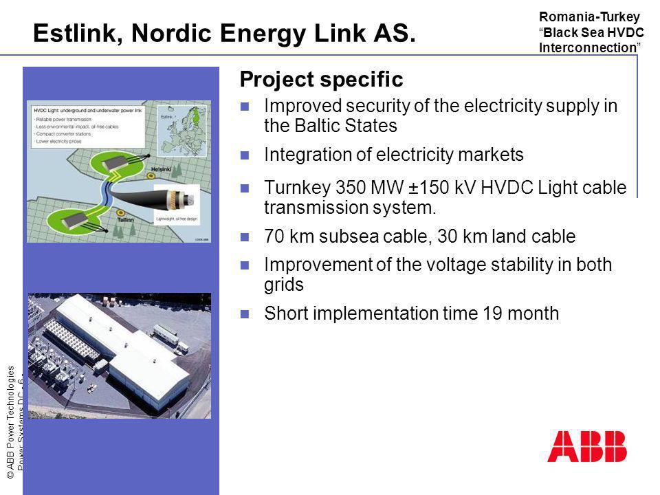 Estlink, Nordic Energy Link AS.
