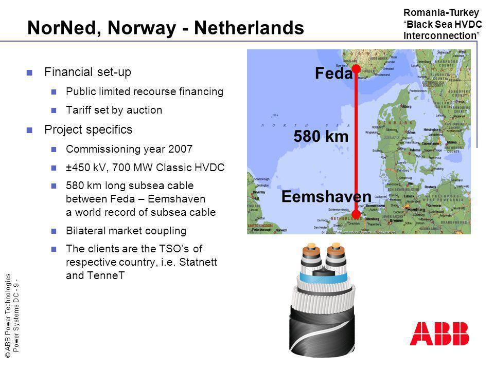 NorNed, Norway - Netherlands