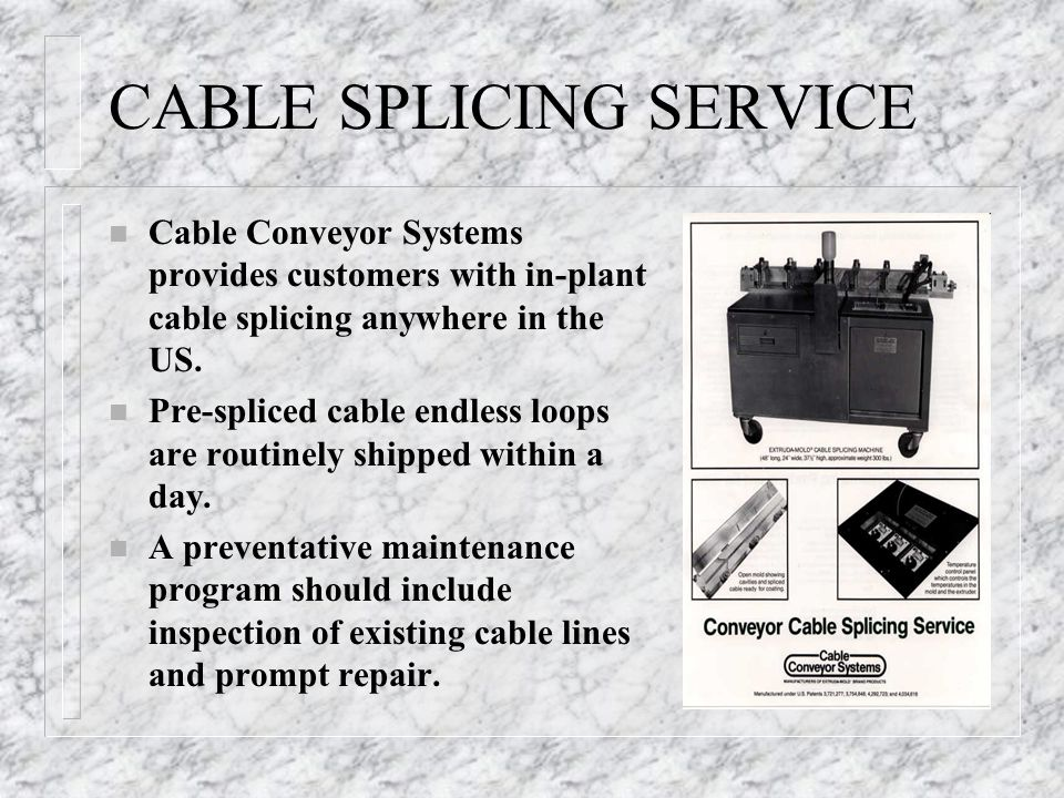 CABLE SPLICING SERVICE