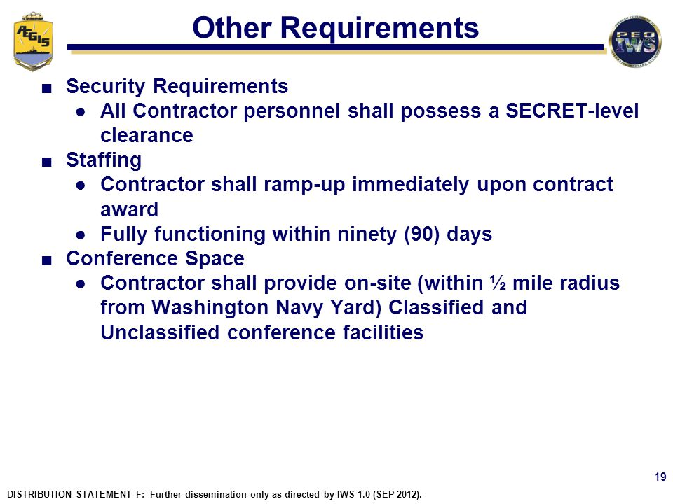 Other Requirements Security Requirements