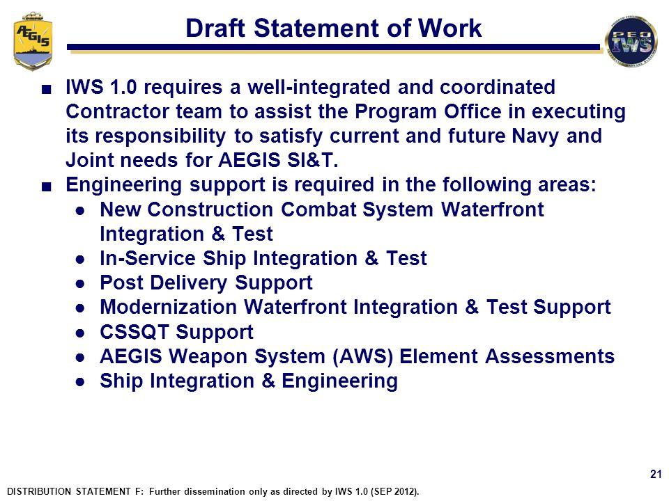 Draft Statement of Work