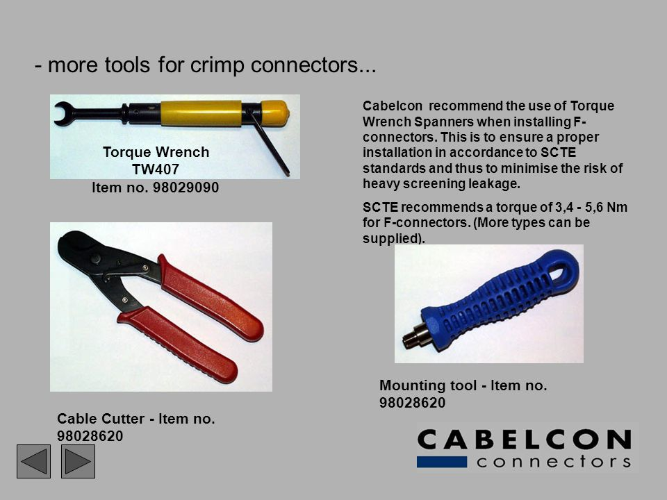 - more tools for crimp connectors...