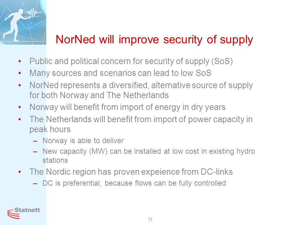 NorNed will improve security of supply