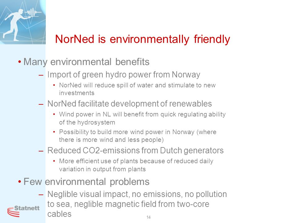 NorNed is environmentally friendly