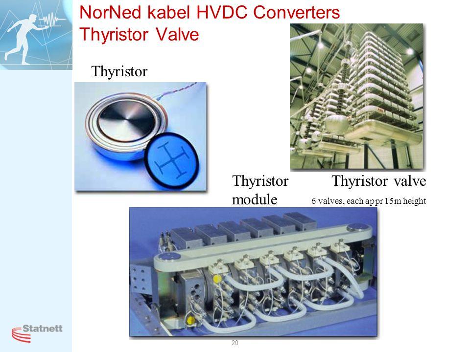 NorNed kabel HVDC Converters Thyristor Valve
