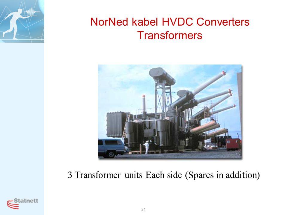 NorNed kabel HVDC Converters Transformers