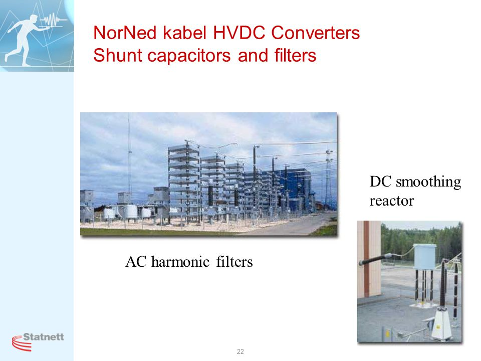 NorNed kabel HVDC Converters Shunt capacitors and filters