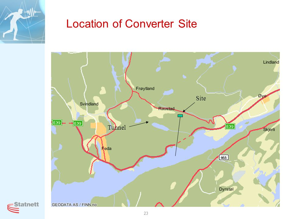 Location of Converter Site