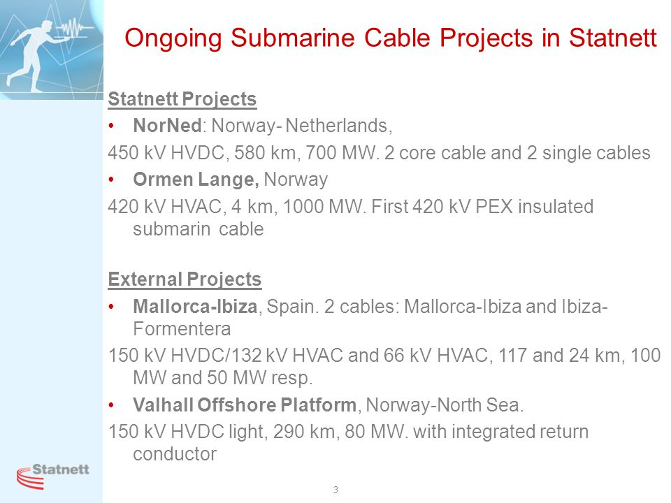 Ongoing Submarine Cable Projects in Statnett