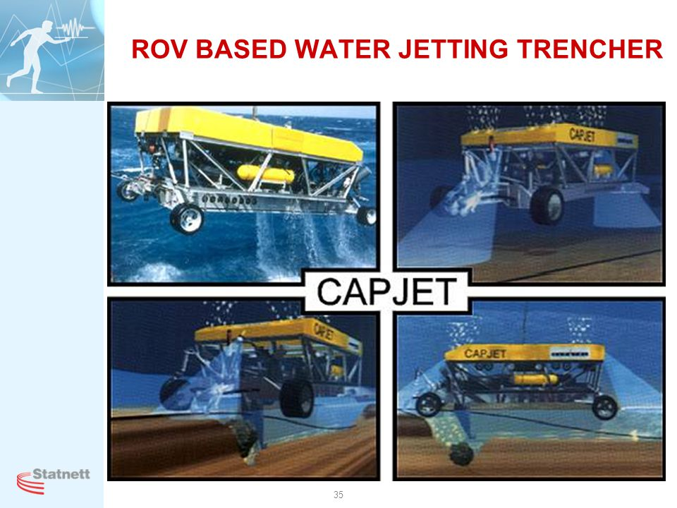 ROV BASED WATER JETTING TRENCHER